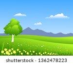 spring time nature landscape | Shutterstock .eps vector #1362478223