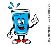 glass of water mascot pointing  ... | Shutterstock .eps vector #1362485339