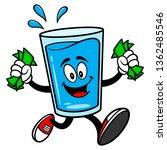 glass of water mascot running... | Shutterstock .eps vector #1362485546