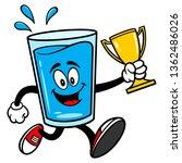 glass of water mascot running... | Shutterstock .eps vector #1362486026