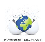 globe  out of hatch egg | Shutterstock .eps vector #1362497216
