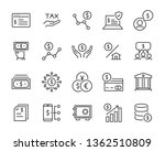 set of money icons  such as... | Shutterstock .eps vector #1362510809