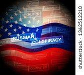 russian conspiracy scheme flag. ... | Shutterstock . vector #1362512210