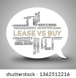 lease versus buy wordcloud... | Shutterstock . vector #1362512216