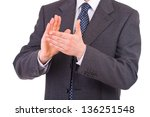 businessman clapping his hands. | Shutterstock . vector #136251548