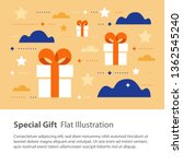 special gift  creative unusual... | Shutterstock .eps vector #1362545240