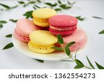 sweet colorful macarons on a... | Shutterstock . vector #1362554273