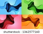paper art of dynamic colorful... | Shutterstock .eps vector #1362577160