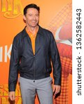 Small photo of New York, NY - April 7, 2019: Hugh Jackman attends Missing Link New York premiere at Regal Cinema Battery Park