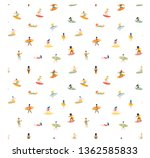 surfing guys and girls on the... | Shutterstock .eps vector #1362585833