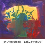 bright multi colored painting ... | Shutterstock . vector #1362594509