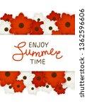 red and white flowers border... | Shutterstock .eps vector #1362596606