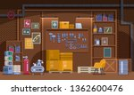 basement workshop vector... | Shutterstock .eps vector #1362600476