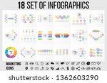 18 set vector infographics... | Shutterstock .eps vector #1362603290