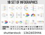 18 set vector infographics... | Shutterstock .eps vector #1362603446