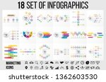 18 set vector infographics... | Shutterstock .eps vector #1362603530