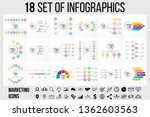 18 set vector infographics... | Shutterstock .eps vector #1362603563