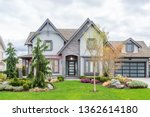 beautiful exterior of newly... | Shutterstock . vector #1362614180