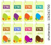 easter sale cards | Shutterstock .eps vector #136261700