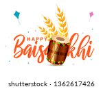 illustration of happy baisakhi... | Shutterstock .eps vector #1362617426