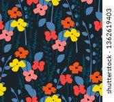 floral seamless pattern. vector ...   Shutterstock .eps vector #1362619403