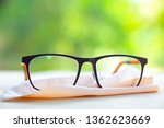 black eyeglasses with ivory... | Shutterstock . vector #1362623669