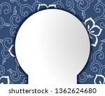 chinese porcelain style...   Shutterstock .eps vector #1362624680