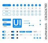 ui kit web   application blue...