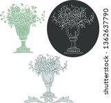 Rococo Vector Set. Vase And...