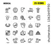 medical  line icons set for...