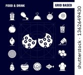 food and drink solid glyph...