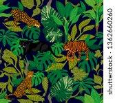 green jungle. seamless vector... | Shutterstock .eps vector #1362660260