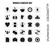 world cancer day solid glyph...