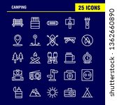 camping line icon pack for... | Shutterstock .eps vector #1362660890