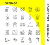 garbage hand drawn icon for web ...