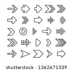 thin line icons set arrows mark ... | Shutterstock .eps vector #1362671339