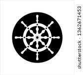 ship steering wheel icon  boat  ... | Shutterstock .eps vector #1362671453
