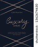 modern rose gold luxury card... | Shutterstock .eps vector #1362674630