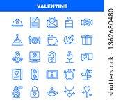 valentine line icon pack for... | Shutterstock .eps vector #1362680480