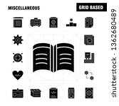 miscellaneous solid glyph icons ...