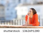happy dreamer dreaming looking... | Shutterstock . vector #1362691280