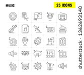music line icons set for... | Shutterstock .eps vector #1362693140