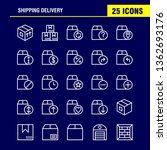 shipping delivery line icon...