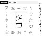 farming hand drawn icon for web ...