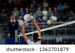 Girl Volleyball Player And...