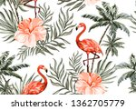 beautiful tropical vector... | Shutterstock .eps vector #1362705779