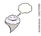 happy cartoon cloud   Shutterstock . vector #136270583