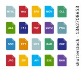 file format icons set | Shutterstock .eps vector #1362708653
