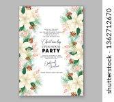 peony pink rose ranunculus... | Shutterstock .eps vector #1362712670