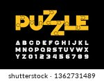 puzzle font design  jigsaw... | Shutterstock .eps vector #1362731489